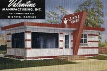 "The inspiring diner in Leedy, OK - named ""The Little Chef"""