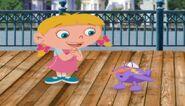 Annie and purple plane