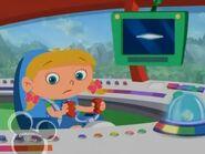 Annie pilot while pop up the dashboard