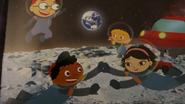 Team on the moon