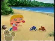 Annie on da beach