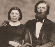 Caroline and Charles Ingalls sepia cropped