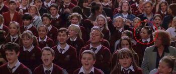 Jesy's cameo in Harry Potter.