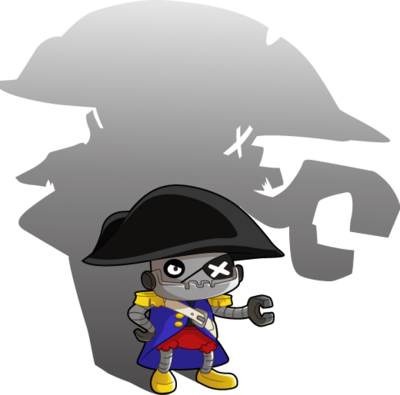 The villainous Lord Shadowbot