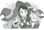 Akko, Lotte, and Sucy watch the stars LWA TNWatCotF