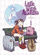 Little Witch Academia TV series BD 1 cover illustrated by character designer and episode 1 Animation Director Shuhei Handa (半田修平) @ebisu1984 LWA