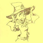 Akko pencil drawing made by Takafumi Hori (堀剛史) @porigoshi on February 9, 2013
