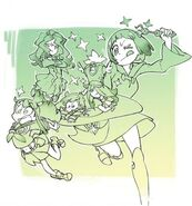 Little Witch Academia by You Yoshinari (LWA director) with characters cosplaying Kill la Kill featuring Mako Mankanshoku LWA