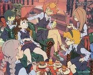 The poster of Little Witch Academia The Enchanted Parade (リトルウィッチアカデミ魔法仕掛けのパレード) illustrated by key-animator Takafumi Hori (堀剛史), that was featured in Ultra Jump's October issue