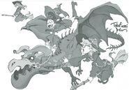 Little Witch Academia (リトルウィッチアカデミア ) Staff Book illustration by Samurai Champloo, Steven Universe animator Takafumi Hori (堀剛史) @porigoshi