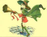 Artwork of Akko in red and green made by Takafumi Hori (堀剛史) @porigoshi in the 1st of March, 2013
