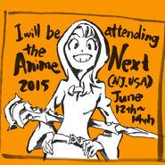 Atsuko Kagari artwork made by Takafumi Hori (堀剛史) @porigoshi to announce his attendance of AnimeNEXT (AN) 2015 in New Jersey, USA LWA