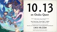 """""""Little Witch Academia VR Broom Racing"""" Official Trailer Oct"""