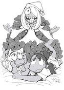 Little Witch Academia episode 8 artwork by Hiroyuki Imaishi @shiimai LWA