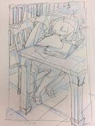 Akko sleeping in the library while reading Kai Ikarashi @kaiikarashi May 20 2017