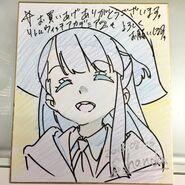 Shikishi of Atsuko Kagari by LWA animator Shuhei Handa (半田 修平) @ebisu1984 LWA