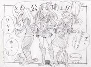 Little Witch Academia illustration for the first day of The Enchanted Parade screening in TOHO cinemas in Shinjuku by Toshiyuki Inoue @181ino