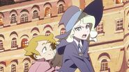 Diana not so subtly praises Akko for her improvised part in Enchanted Parade