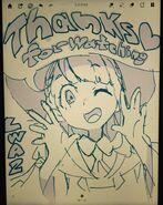 "Little Witch Academia key-animator Masaru Sakamoto's (坂本 勝) @tuki 3002 thanks for watching ""The Enchanted Parade"" sketch of Akko LWA"
