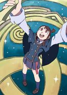 Akko attempting to fuse Shiny Rod and Grand Triskellion together using the Final Word by Arai Hiroki @arai 1