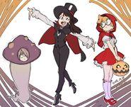 Halloween LWA illustration by LWA Character Designer (TV version) Shuhei Handa (半田修平) @ebisu1984