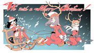 Little Witch Academia Christmas illustration newsletter version made by Yoh Yoshinari in 25-12-2013 LWA