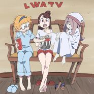 Colored illustration of the Red Team waiting for the LWA TV Series premiere by animator Kengo Saito @kengo1212