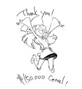 Sketch of Atsuko Kagari which comes directly from the Kickstarter update for Little Witch Academia 2 as a Thank you for getting funded after only a day LWA