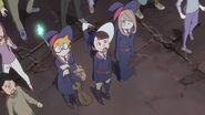 Akko astonished by the Titans appearance