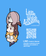 Little Witch Academia LINE STORE promo poster posted on update