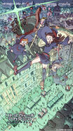 The first key-visual for Little Witch Academia The Enchanted Parade illustrated by Yoh Yoshinari (吉成曜) its creator and director from his art book - The Art of Yoh Yoshinari Illustrations