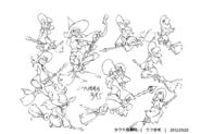 Witches with their magic broom concept art LWA
