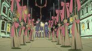 Akko tests magic for the Enchanted Parade