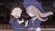 Akko realizes she let Shiny Rod by mistake while berating Sucy