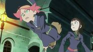 Amanda and Akko alarmed by Shiny Rod theft by Thomas and co to stop their Parade