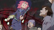 Amanda evading Titans corrupted magic missiles
