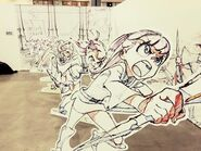 Picture of Akko at the key frame exhibit for Little Witch Academia in 2015 posted by @Trigger Tattun
