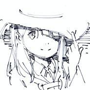 Atsuko Kagari drawing posted on update