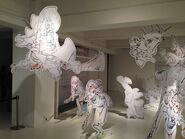 Picture of the Little Witch Academia original art exhibition in 2014 posted by @Trigger Tattun