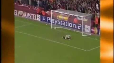 Gerrard Goal v Olympiakos (UEFA Champions League Group Stage 2004)