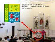 Escut de Llofriu a l'esglesia de Llofriu
