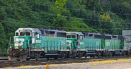 BNSF Cascade Green locomotives