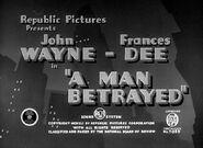 A Man Betrayed - 1941 - MPAA