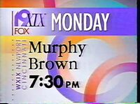 WXIX Murphy Brown 1993 ID