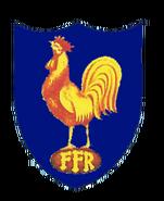 France Rugby Old Badge 1970 blue