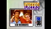 WATL FOX 36 promo for Cheers 10pm Weeknights from 1992
