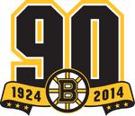 Boston Bruins logo (90th anniversary)