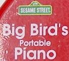 Big Bird's Portable Piano