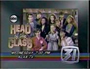KLAX-TV ABC's Head of the Class Promo