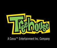Treehouse TV in Corus byline (2004) logo brighter